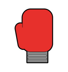cute boxin glove cartoon vector image