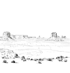 desert of north america arizona chihuahuan vector image