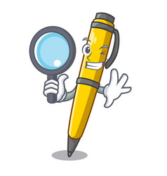 Detective pen can be used for mascot vector