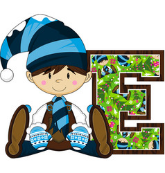 E is for elf vector