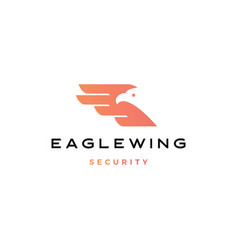 eagle wing bird logo icon vector image