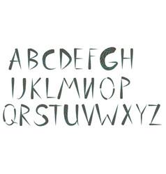 ethnic font native american indian alphabet vector image