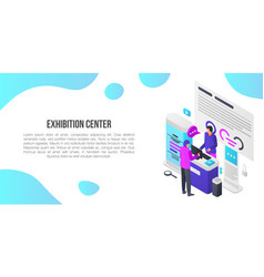Exhibition center showroom concept banner vector