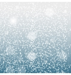 Falling Shining Snowflakes and Snow on Blue vector