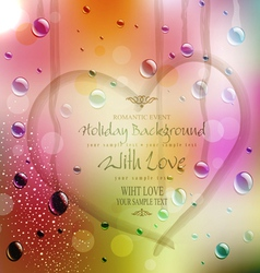 Festive background with the drawn heart vector