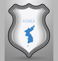 flag of united korea badge and icon vector image