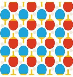 Flat Seamless Sport Tennis Ping Pong Pattern vector image