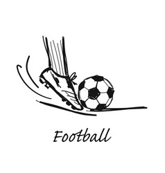 football sketch for your design vector image
