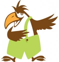 funny bird symbol vector illustration vector image
