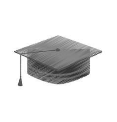 Graduation hat isolated icon vector