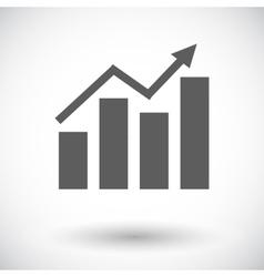 Graph flat single icon vector