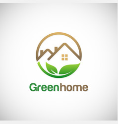 Green home environment logo vector