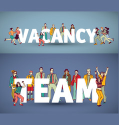 group team business people and words vector image