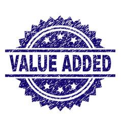 Grunge textured value added stamp seal vector