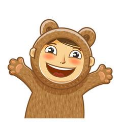 happy child delight smiling kid bacartoon vector image