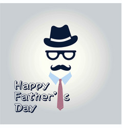 Happy fathers day inscription fathers day vector