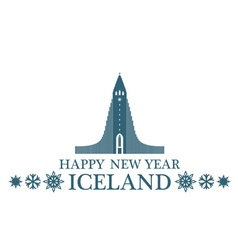 Happy new year iceland vector