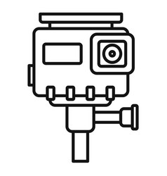 Hd action camera icon outline style vector