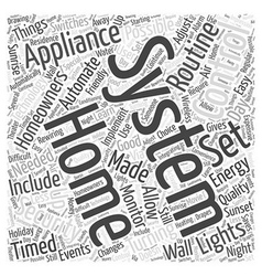 Home security appliance control system word cloud vector