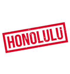 Honolulu rubber stamp vector