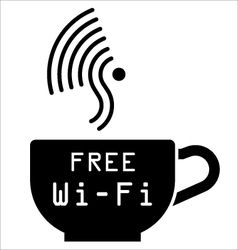 Internet cafe free WiFi symbol vector image