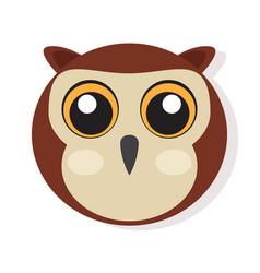 Isolated owl face vector