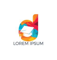 letter d education logo design vector image