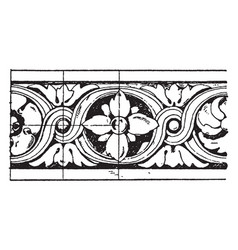 Louvre torus moulding circular moldings vintage vector