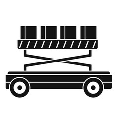 machine lift box icon simple style vector image