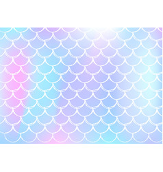 Mermaid scales background with holographic vector