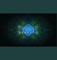Modern background with futuristic user interface vector