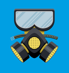 Modern gas mask respirator fire equipment vector