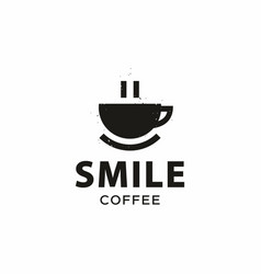 modern professional sign logo smile coffee vector image