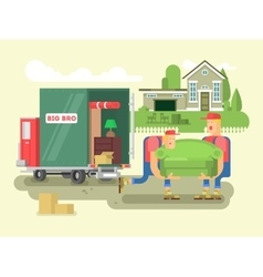 Moving design flat vector image