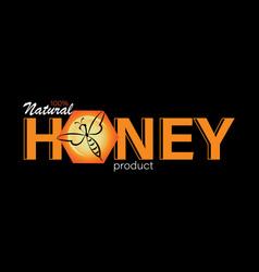 Natural honey business card emblem label vector