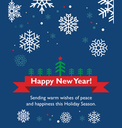 new year card with fir-tree vector image