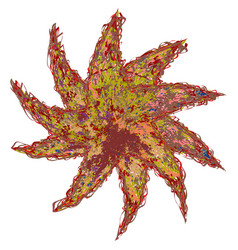 original color flower vector image