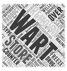 Over the Counter Wart Removal Products Word Cloud vector