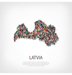 People map country Latvia vector