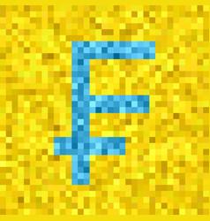 Pixel frank symbol vector
