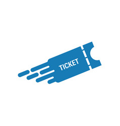 quick ticket graphic icon design template vector image