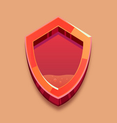 Red shield with low liquid antivirus system vector