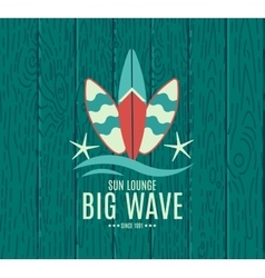 Retro Style Surfing Labels Logos vector image