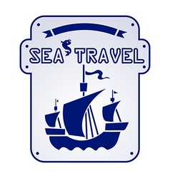 sea travel vector image