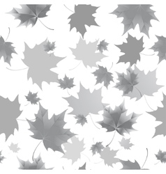 Seamless background pattern of autumn leaves vector image