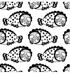 seamless pattern with abstract large jellyfish vector image