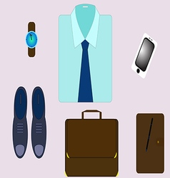 Set for a modern businessman with gadgets and vector image