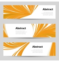 Set of Orange Curved Lines Backgrounds Banners and vector image
