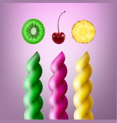 set of spiral lollipops vector image
