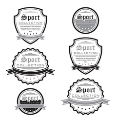 set of sport emblems Logo badges and labels vector image